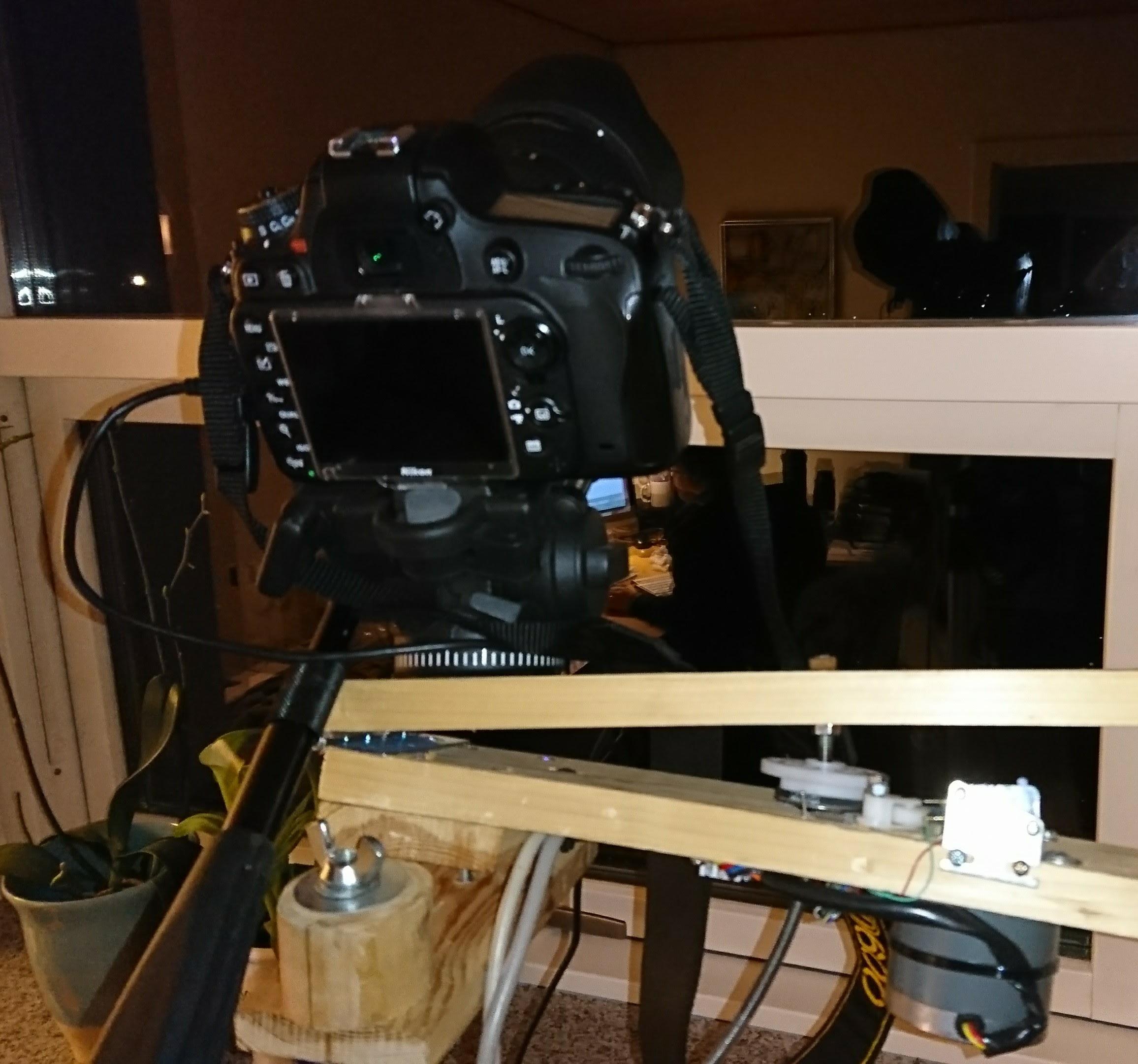 Kamera monteret på tracker
