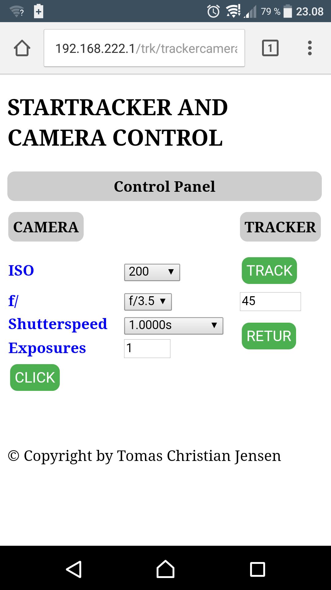 Webside til styring